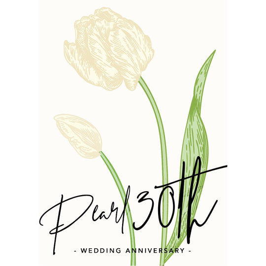 Personalise a Pearl 30th Wedding Anniversary Card