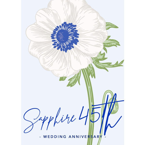 Sapphire Anniversary Cards