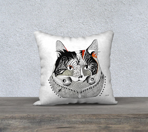 Cali Cat Decorative Throw Pillow Case - 18""