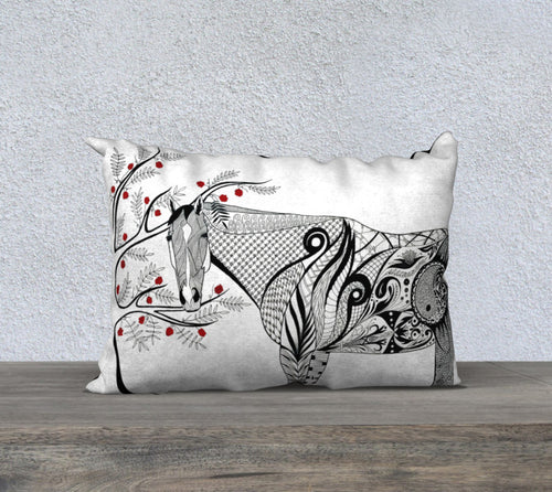 ED Horse Decorative Throw Pillow Case - 14x20