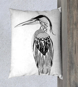 Heron's Grace Decorative Pillow Case - 14x20""