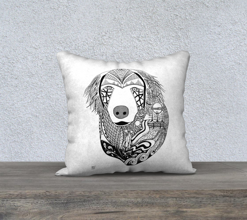 Golden Retriever Decorative Throw Pillow Case - 18
