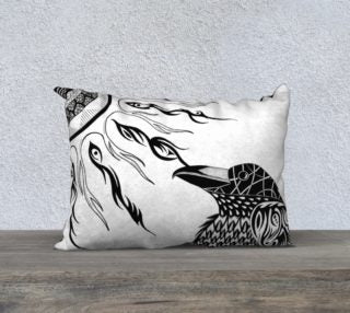 The Raven's Sun Decorative Pillow Case - 14x20