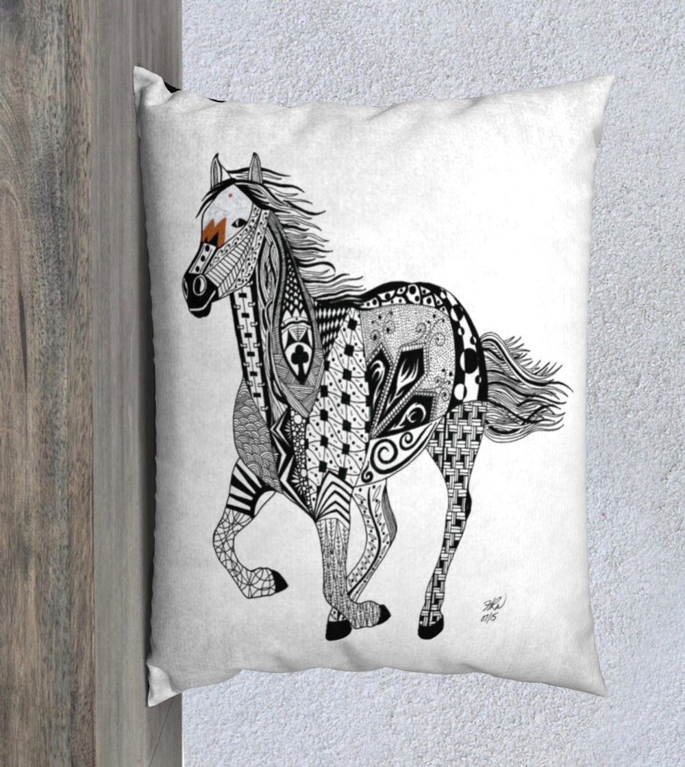 Ride On Horse Decorative Pillow 26x20