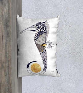 Seahorse Guardian Decorative Pillow Case - 14x20""