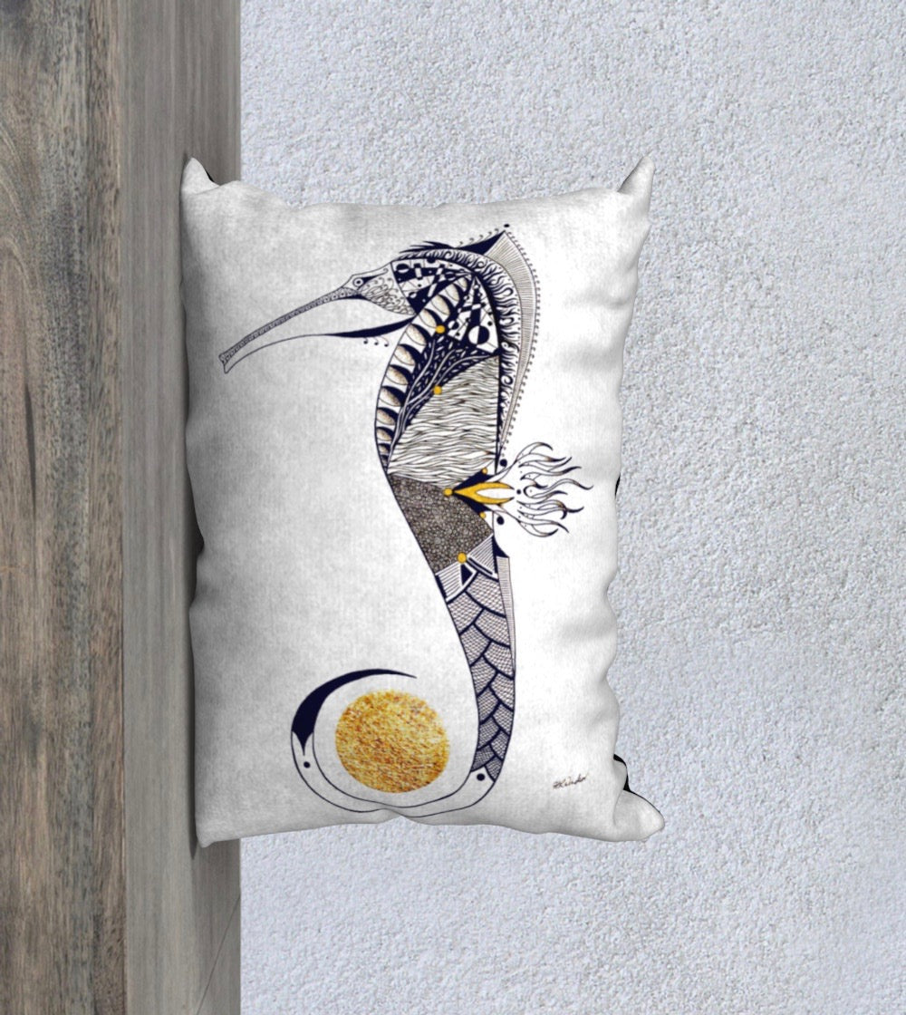 Seahorse Guardian Decorative Pillow Case - 14x20