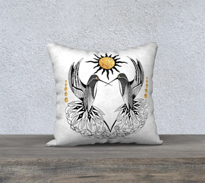 Hummingbird Pair Decorative Pillow Case - 18""