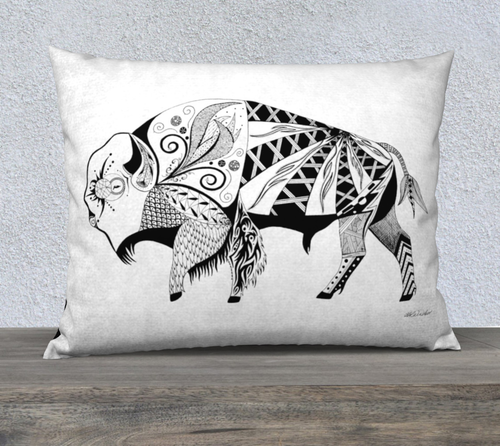 Buffalo In the Wild Decorative Pillow - 26x20