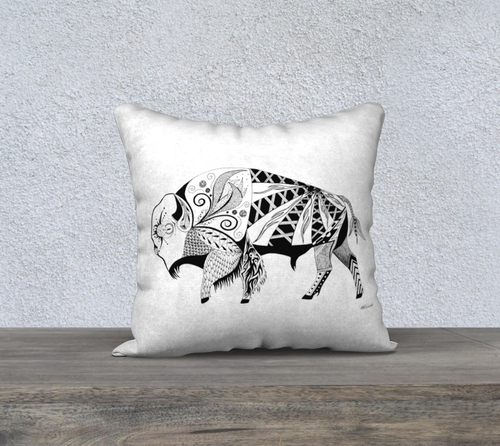 Buffalo In the Wild Decorative Pillow Case - 18