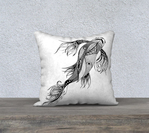Parkside Koi Decorative Pillow Case - 18