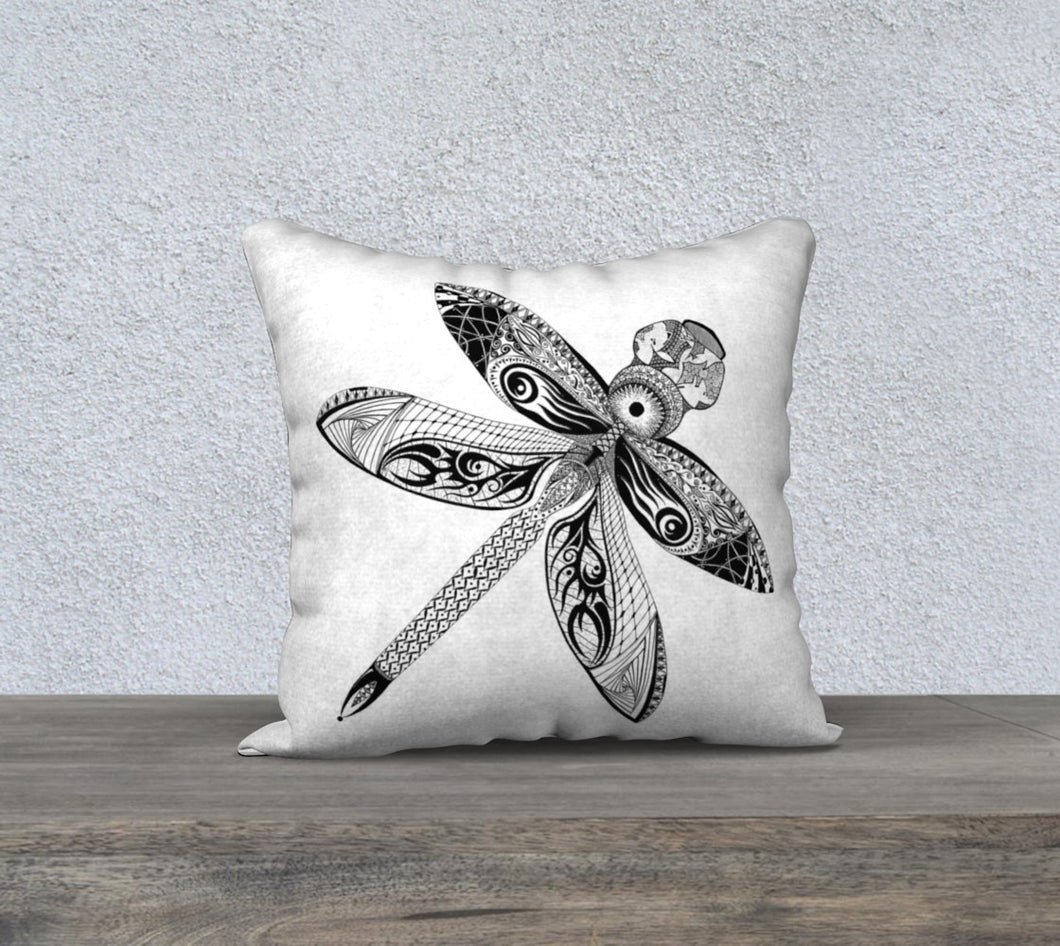 La Libellule Dragonfly Decorative Pillow Case - White 18