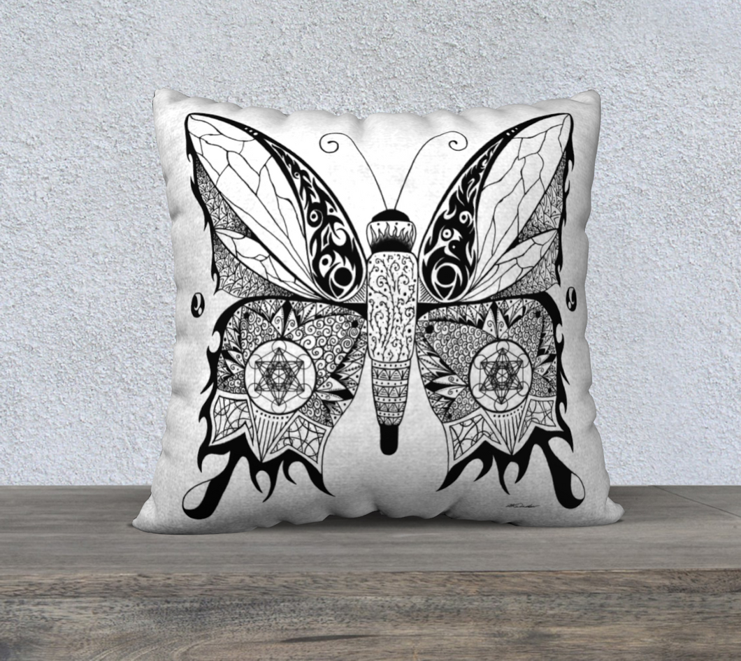 Butterfly by Day Decorative Pillow Case - 18