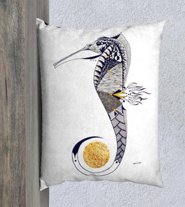 Seahorse Guardian Decorative Throw Pillow Case - 26x20""