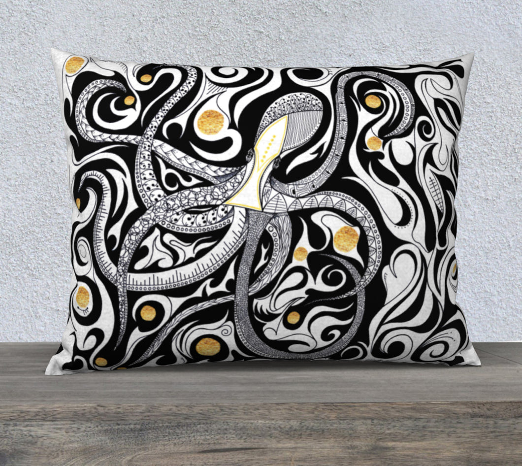 Balancing Act Octopus Decorative Pillow Case - 26x20