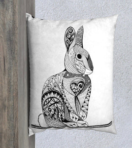 Cheeky Rabbit Decorative Pillow Case - 20x26""