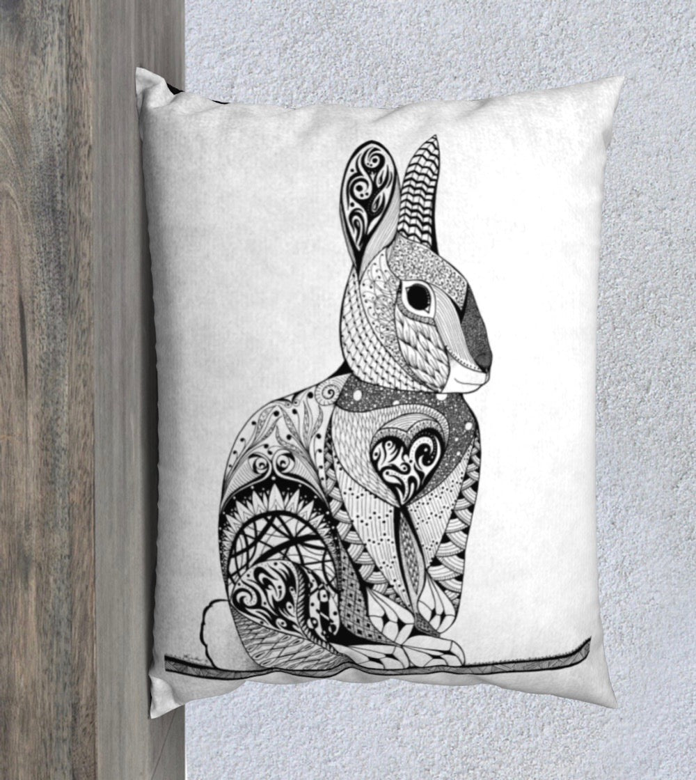 Cheeky Rabbit Decorative Pillow Case - 20x26