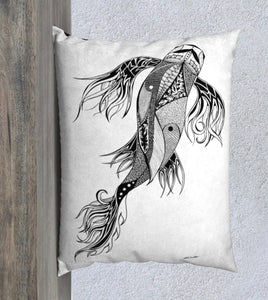 Parkside Koi Decorative Pillow Case - 26x20""