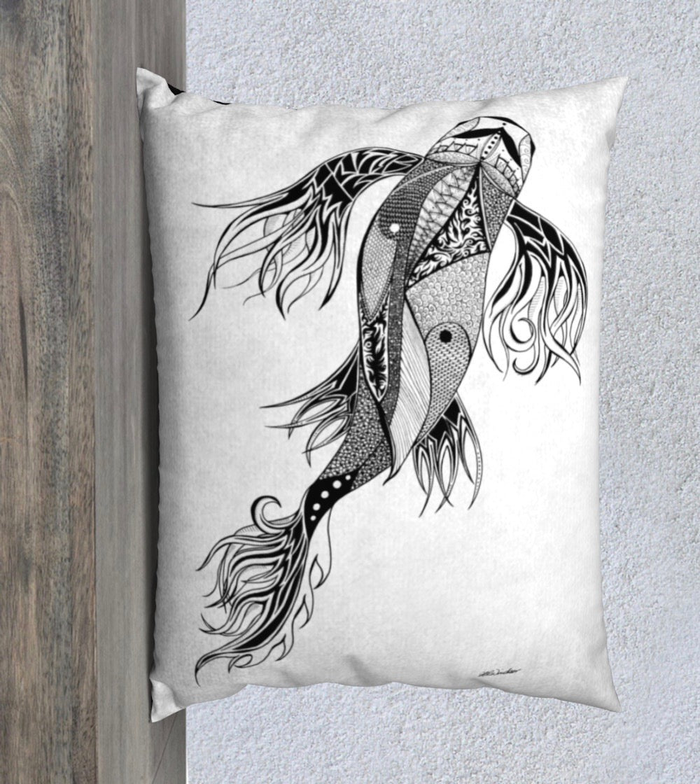 Parkside Koi Decorative Pillow Case - 26x20