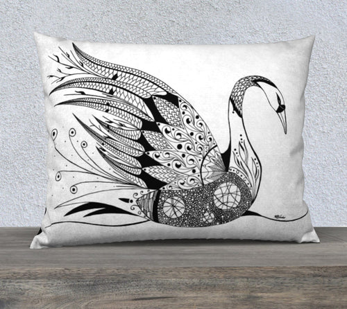 Swan (Day Swan) Decorative Pillow Case - 26x20
