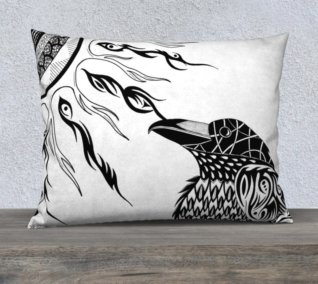 The Raven's Sun Decorative Pillow Case - 26x20