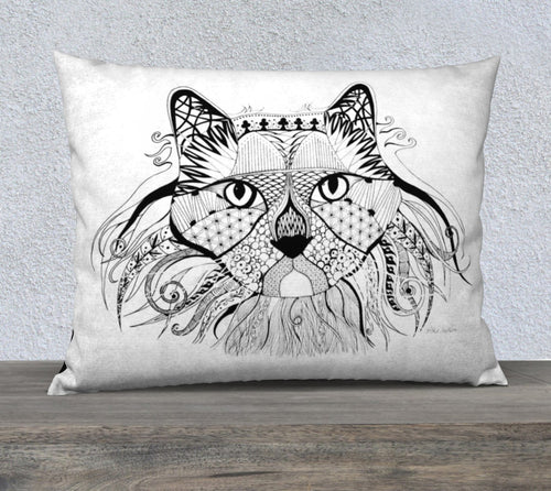 Hunter Cat Decorative Pillow Case - 26x20