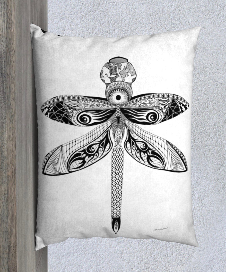La Libellule Dragonfly Decorative Pillow Case - 26x20