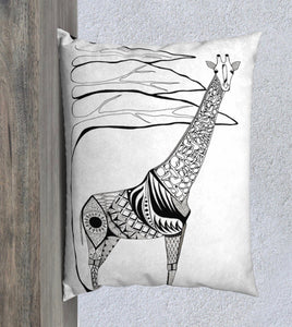 Stand Tall Giraffe Decorative Pillow Case - 14x20""