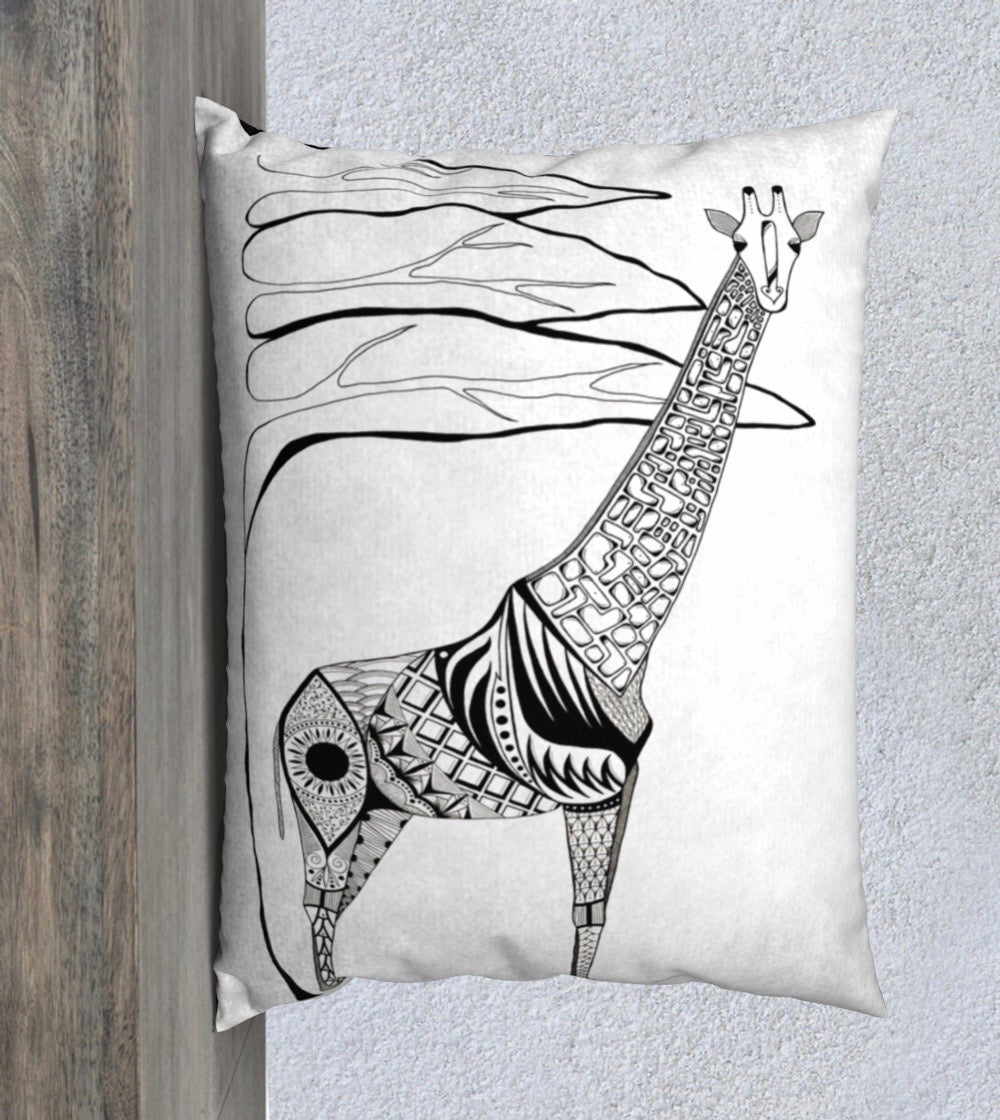 Stand Tall Giraffe Decorative Pillow Case - 14x20