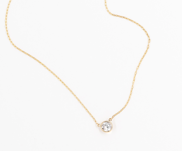How to reset a diamond as a necklace.