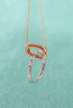 Load image into Gallery viewer, Gold Carabiner Necklace