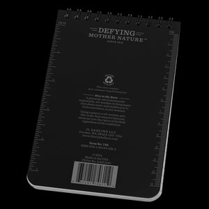"Rite-in-the-Rain, Top Spiral Notebook, 4"" x 6"", Black, #746"