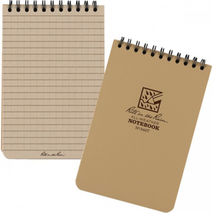 "Rite-in-the-Rain, Top Spiral Notebook, 4"" x 6"", Tan, #946T"