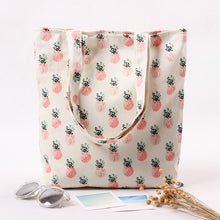 Load image into Gallery viewer, Pineapple Canvas Tote