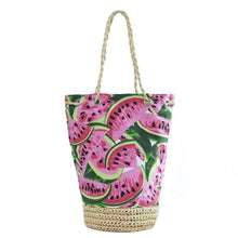 Load image into Gallery viewer, Watermelon Weave Tote