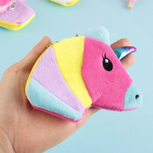 Load image into Gallery viewer, Fuzzy Unicorn Coin Purse