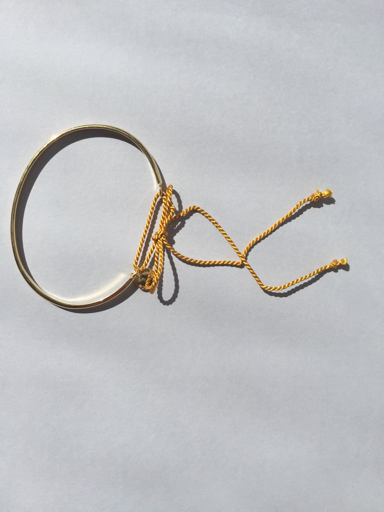GOLD 3mm RIBBON BRACELET