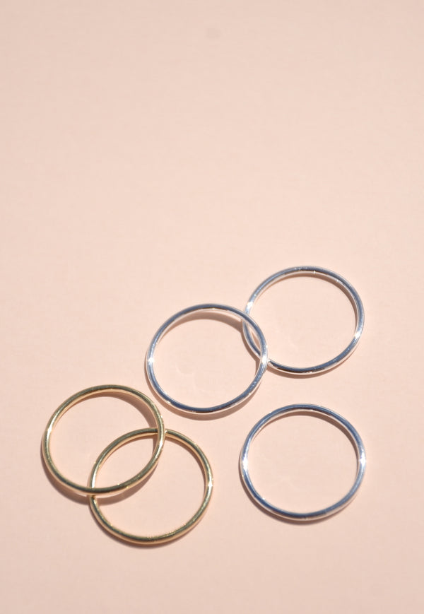 1.25mm Rounded Stackable Ring Band