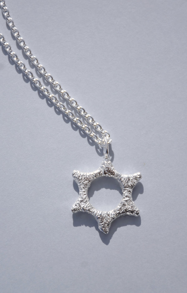SILVER SEAL OF SOLOMON NECKLACE