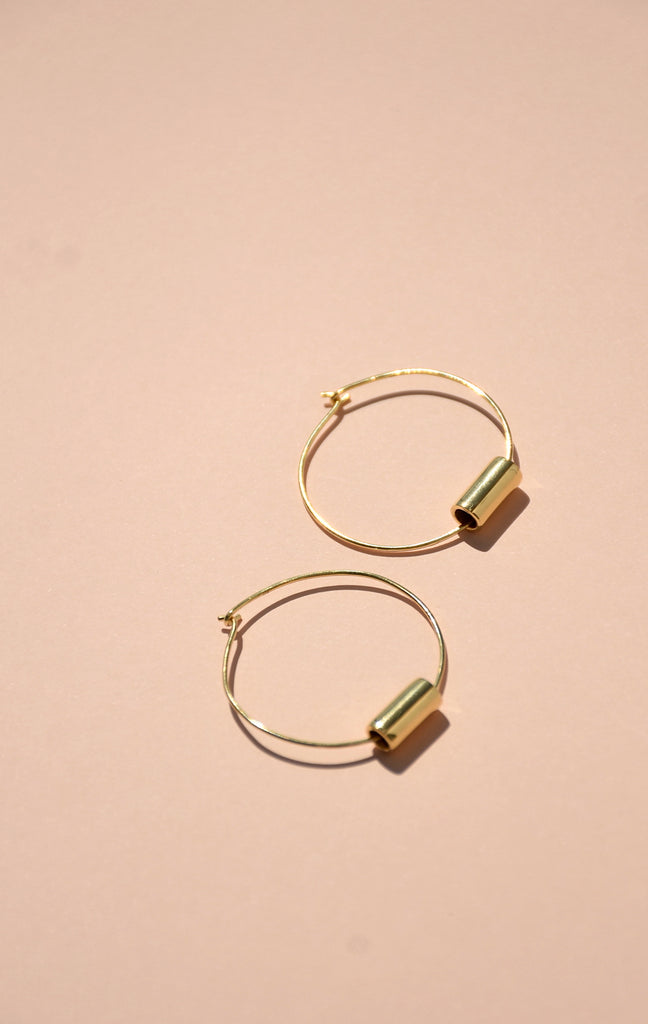GOLD MAIA HOOP EARRINGS