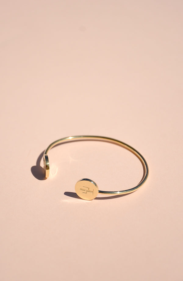 18k Vermeil Cactus Bangle Bracelet