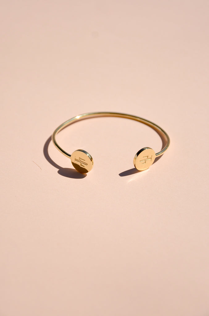 GOLD VERMEIL CACTUS BANGLE