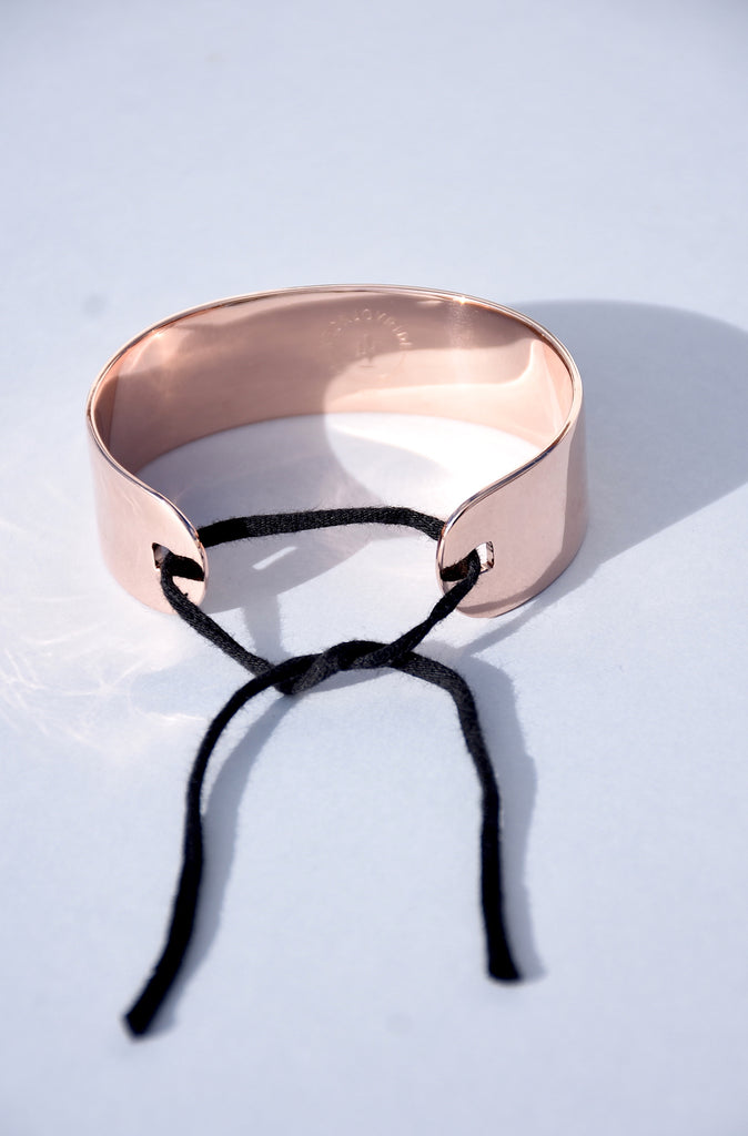 ROSE GOLD VERMEIL RIBBON CUFF