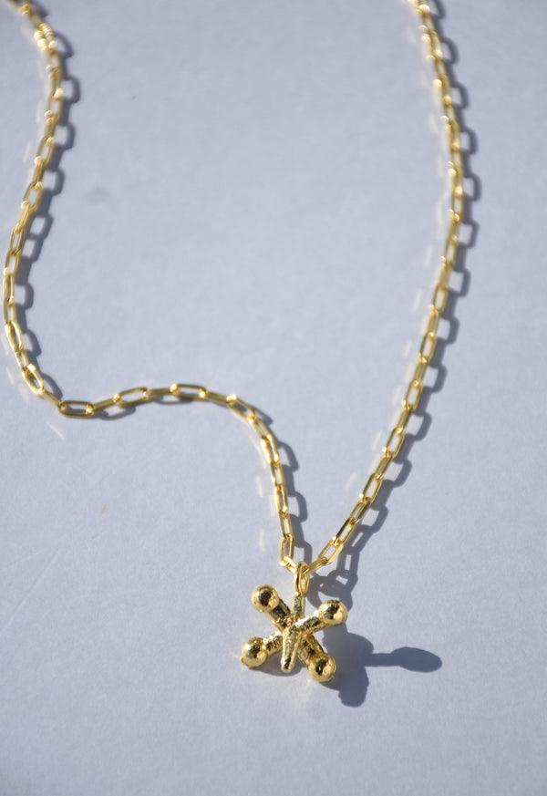 GOLD JACK PENDANT NECKLACE