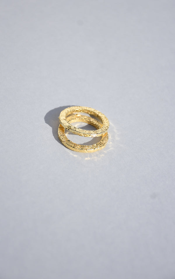 GOLD PRAIA STACKING RING