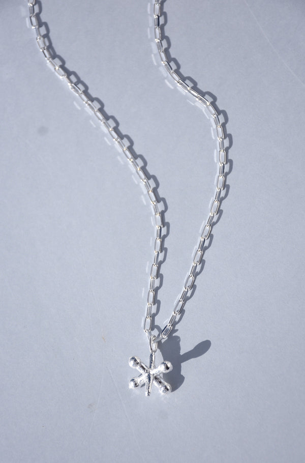 STERLING SILVER JACK PENDANT NECKLACE