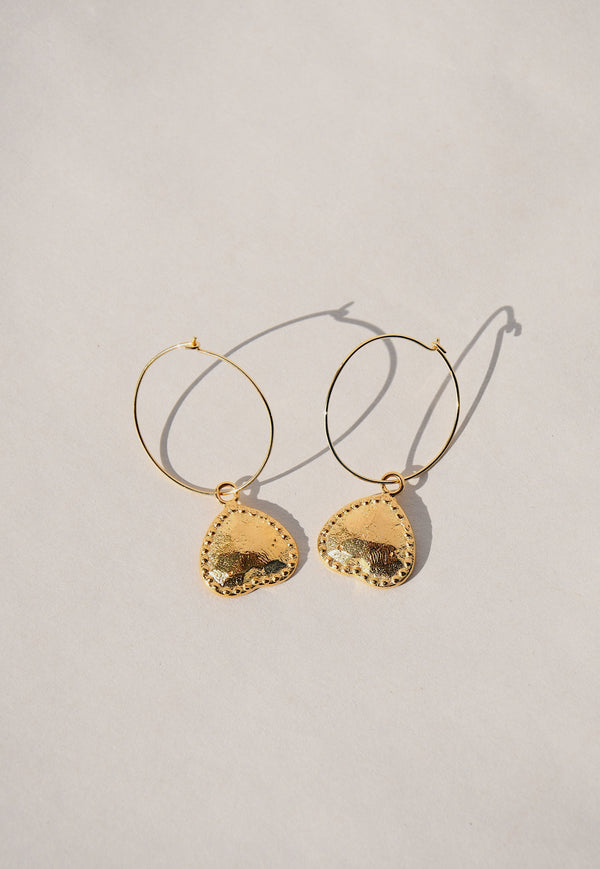 AMOR HOOP EARRINGS