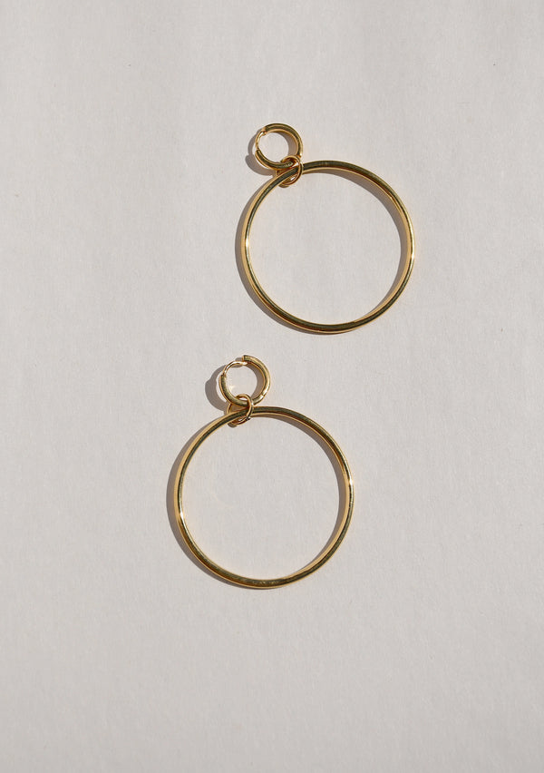 SOL DOUBLE HOOP EARRINGS