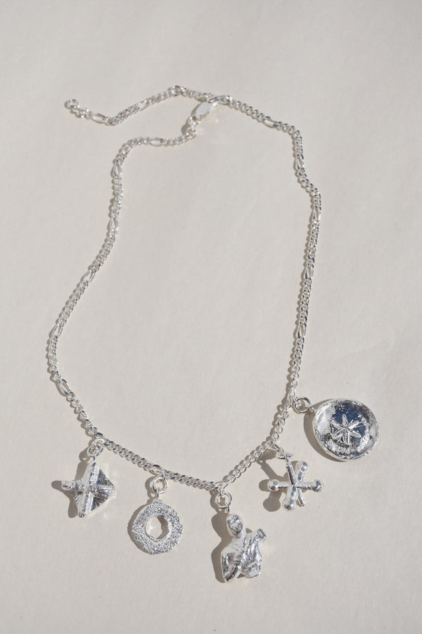 SILVER PRAIA CHARM NECKLACE