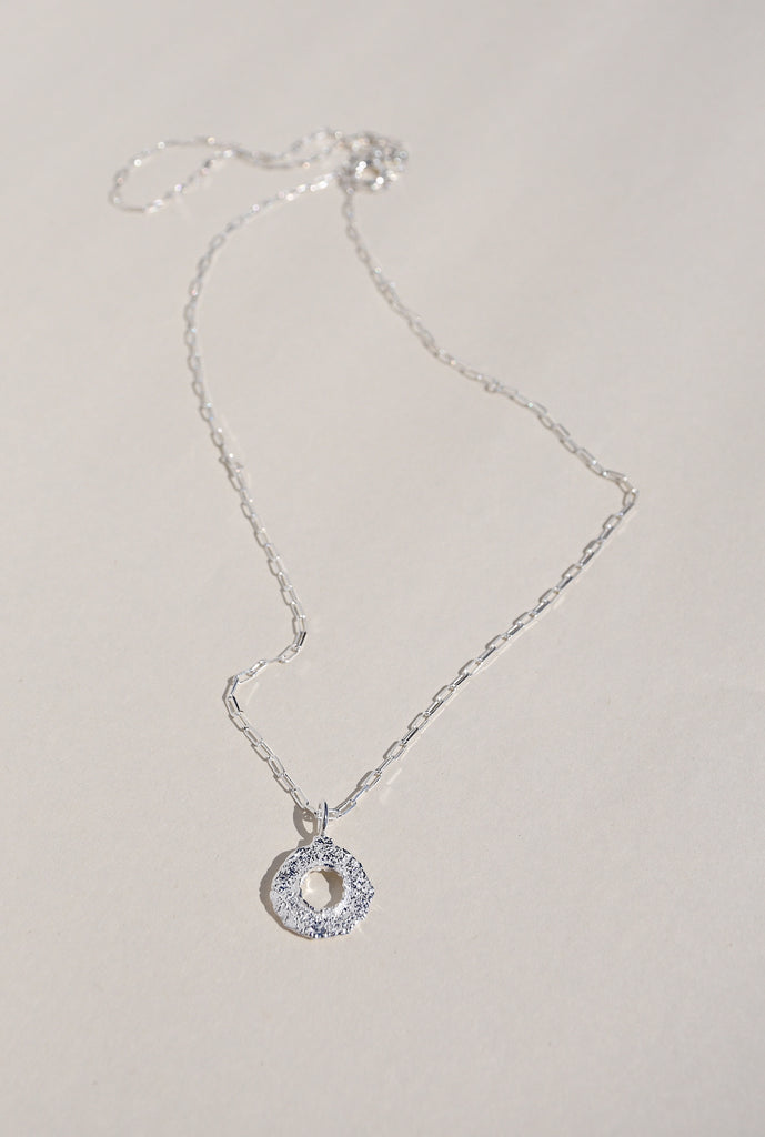 SILVER ENSO NECKLACE