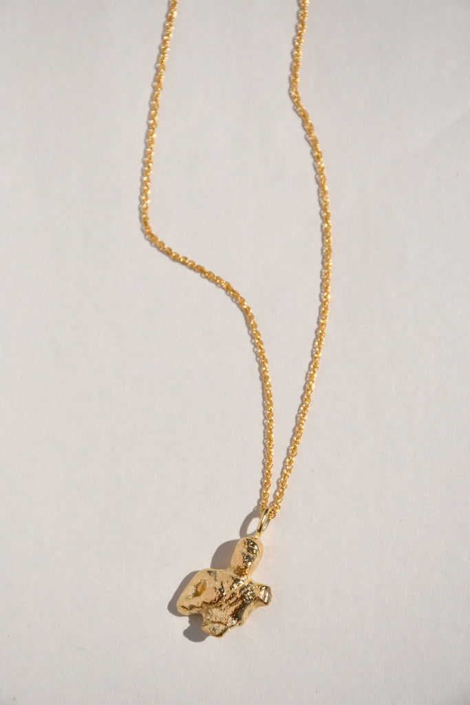 GOLD PAN NECKLACE